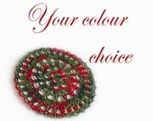Round Tatted Lace Doily - Your Choice Of Colour - Rosetta