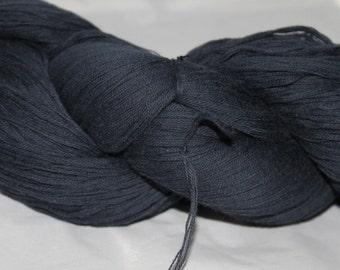 30% off STORE CLOSING SALE Reclaimed Yarn, Navy Blue Cotton Yarn, Sport Weight Yarn - 697 Yards