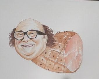 Danny Devito as a Ham Print