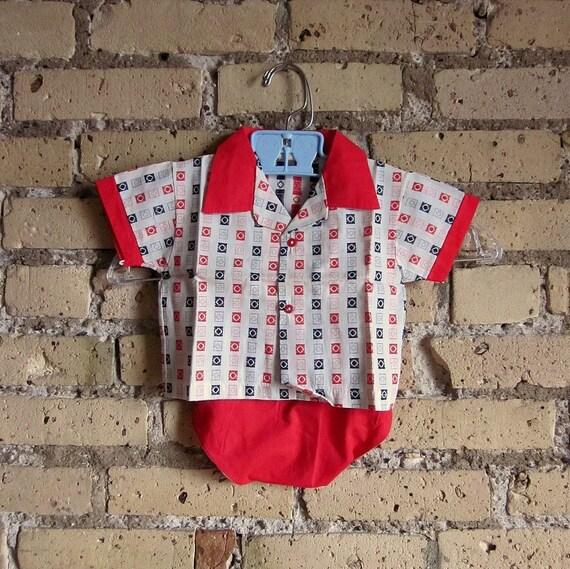 Retro Toddlers 18M Checkered Rockabilly 2 Piece
