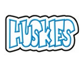 Huskies Embroidery Machine Double Applique Design 3066 INSTANT DOWNLOAD