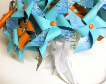 Pinwheel Bouquet Vintage Atlas by Rule42