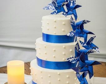 Custom Pinwheel Cake Topper Set of 9 by Rule42