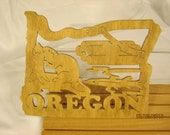 US STATE of OREGON  Scroll Saw Plaque