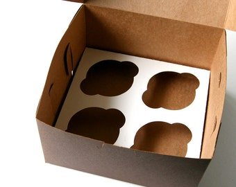 Cupcake Inserts for Pastry Boxes / Bakery Boxes - 7x7x4 inches (5 inserts)