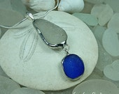 Sea Glass Drop pendant, sea glass necklace, genuine sea glass, sea glass jewelry, beach wedding