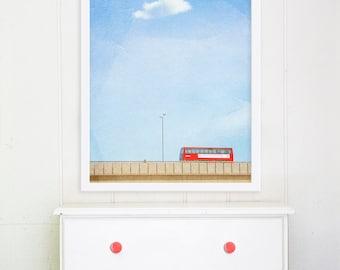 Travel Photography - London Art, London Photography, Red London Bus, Double Decker Bus Travel Fine Art Print 18x12