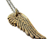 Angelwing Pendant Solid Bronze 3D Necklace - Gwen Delicious Jewelry Design 028