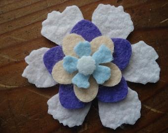 Wool Felt Flowers - Spring Colors