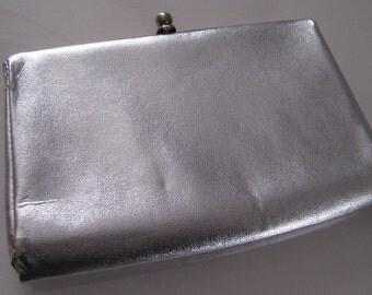 Silver Lame' Clutch