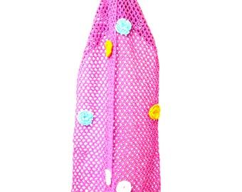 Christmas Gift, Rose Scarf, Pink Scarf, Wool Scarf, Handknitt Scarf, Long Scarf