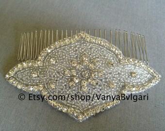 Bridal Hair Comb - Wedding Hair Accessories, Wedding comb with crystals, Crystal hair-comb, Silver hair comb