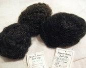 3 Vintage Doll Wigs  sz 8 and 2 sz 9 Imsco Black, Brown  Curls