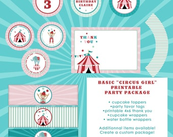 Circus Girl - Basic Party Printable Package