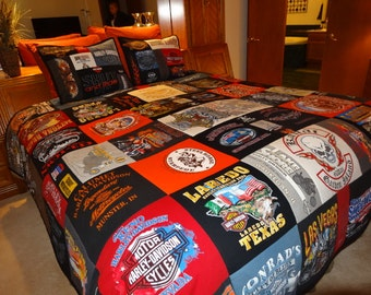 KING SIZED T-Shirt Blanket with Shams