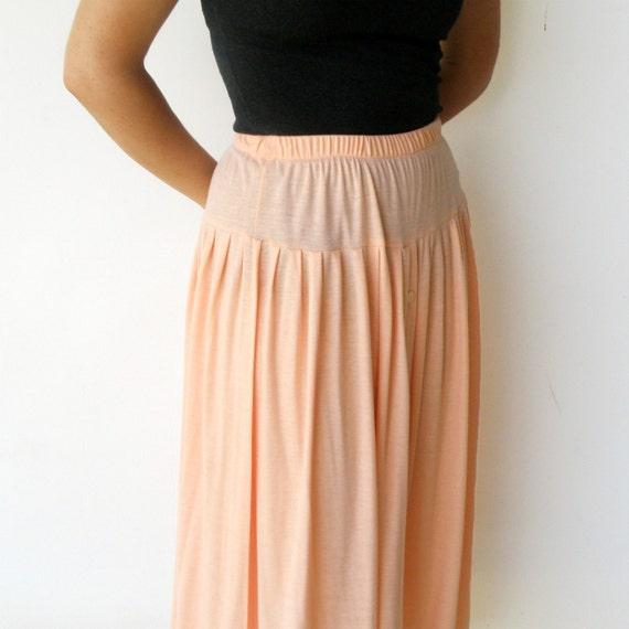 Vintage Blush Skirt / 80s Swing Skirt / Size M