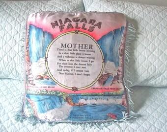 Niagara Falls Souvenir Pillow Case Mother Poem