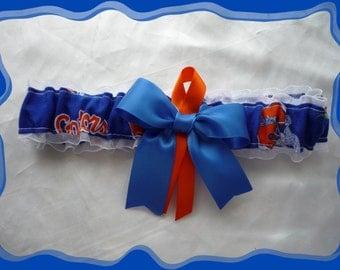 Florida Gators White Fabric Organza Ribbon Wedding Garter Toss ~~~SALE~~~~