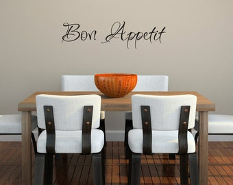 Bon Appetit Wall Decal - Kitchen Wall Art - Large