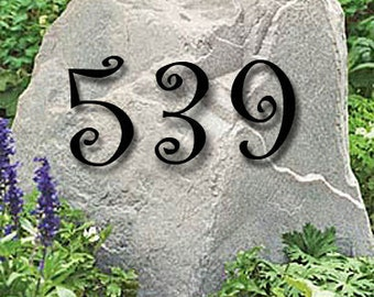 Set of 4 Powder Coated House Numbers or Letters / 2 Inch up to 8 Inch / Address / Metal / Business / Colored / Office / Powder Coated