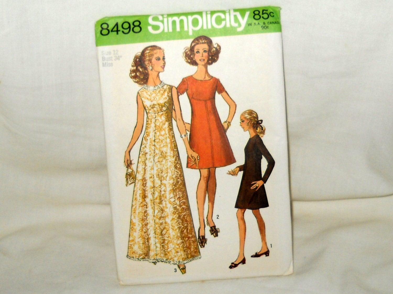 Vintage chic dress pattern mid century modern by myvintageneighbor