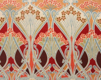 Liberty tana lawn printed in Japan - Ianthe - Orange brown
