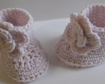 CROCHET PATTERN Baby Boots/Booties Flower Girl - PDF