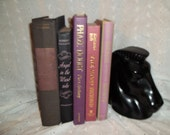 Vintage Purple Pink Black Instant Book Collection Library Photo Prop