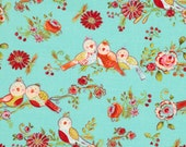 Love and Joy from Westminster and Dena Fishbein, Bird in Blue 1/2 yard
