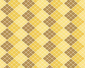 Indie Chic Checkers Yellow by My Minds Eye Riley Blake Designs, 1/2 yard