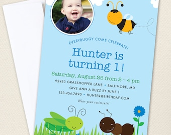 Insect Party Photo Invitations - Professionally printed *or* DIY printable