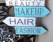 Business Sign, Custom Business Advertisement Sign, 4 Directional Sign. Vendors, Salons, Boutiques and Craft Shows. 1-Sided.