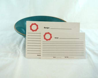 Recipe Cards set of 20 - Basic Flowers