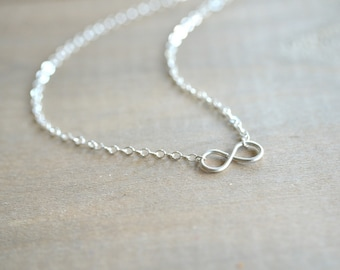 Tiny Infinity Necklace in Sterling Silver