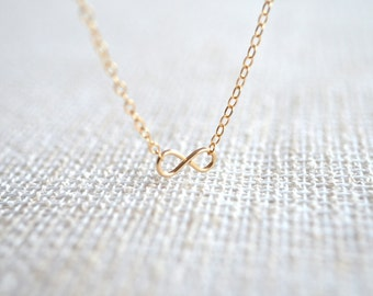 Tiny Infinity Necklace - 14K Gold Filled
