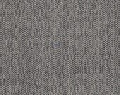 "5019-Felted 100% Woven Wool  Fabric/Classic Herringbone/ Recycled/Light Weight / Black and White/15.5""x10""/wool felt/wool accessories/"