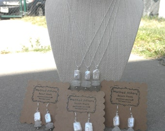 Three Flat Pearl Wedding Earring and Necklace Sets Lake Erie Ohio