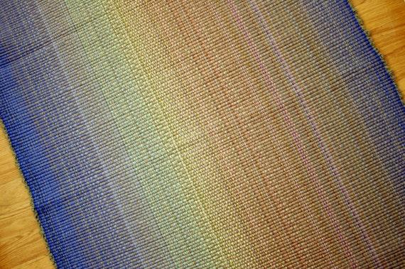 Cotton Rag Rug in Pastel Rainbow 3 x 5
