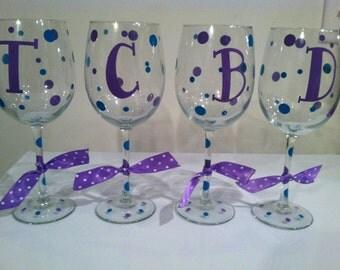 DIY Personalized Monogram Wine Glass Kit for 9 Glasses