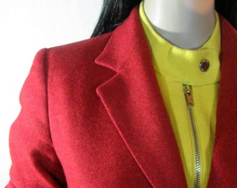 Burgandy Rust BLAZER by Talbots of Japan Wool Cashmere Angora