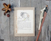 Sketch Journal: hand bound using recycled vintage paper - 16 x 22 cm