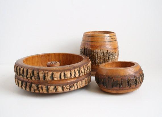Mid Century Modern Raw Wood Decor