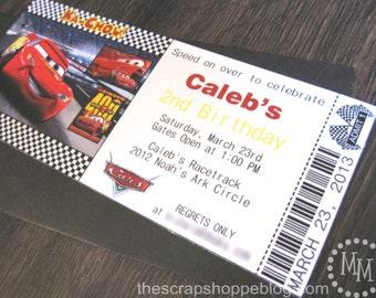 Cars Custom PRINTABLE Birthday Invitation