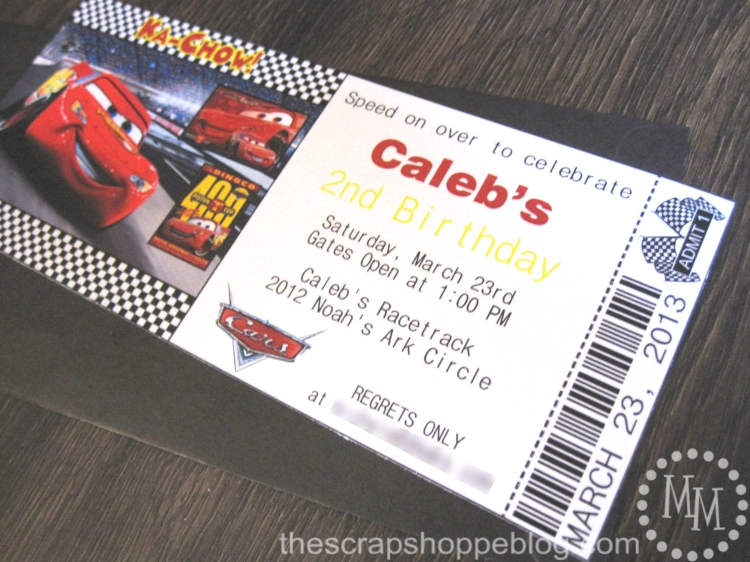 Cars Invitation Card Template Free: Cars Custom PRINTABLE Birthday Invitation