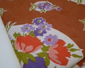 POPPY BOUQUET vintage cotton fabric