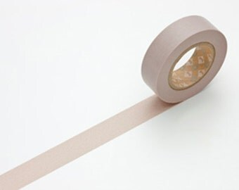 Discontinued Solid color Japanese Washi Masking Tape / Dusky Lilac (15m Long, 50 % more) for invitation, party favor, wedding deco