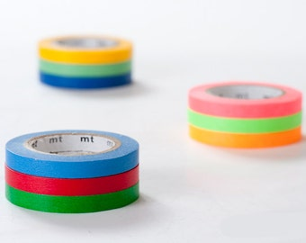 mt 2013 - Japanese Washi Masking Tapes / 6mm Slim Basic Colors - Set of 3