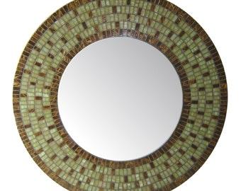 Custom Mosaic Wall Mirror - Round Mirror