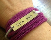 Running Motivation Wrap Bracelet: RUN FAR