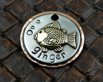 Custom Dog ID Tag Goldie Fish-Dog Tag for Dogs-Personalized Fish ID Tag